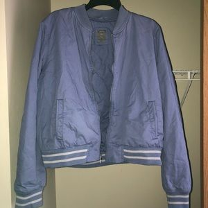 GAP Periwinkle Blue Bomber Jacket-Size XL
